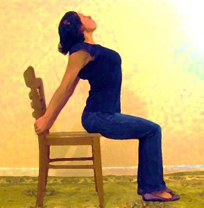 The Reverse Back Arch. Easy office exercise that you can do while sitting in your chair.