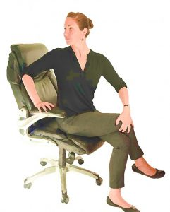 The Torso Twist. Easy office exercise that you can do while sitting in your chair.