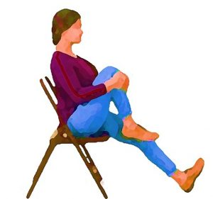 The Single Knee Hug. Easy office exercise that you can do while sitting in your chair.