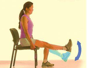 The Twin Leg Extension. Easy office exercise that you can do while sitting in your chair.